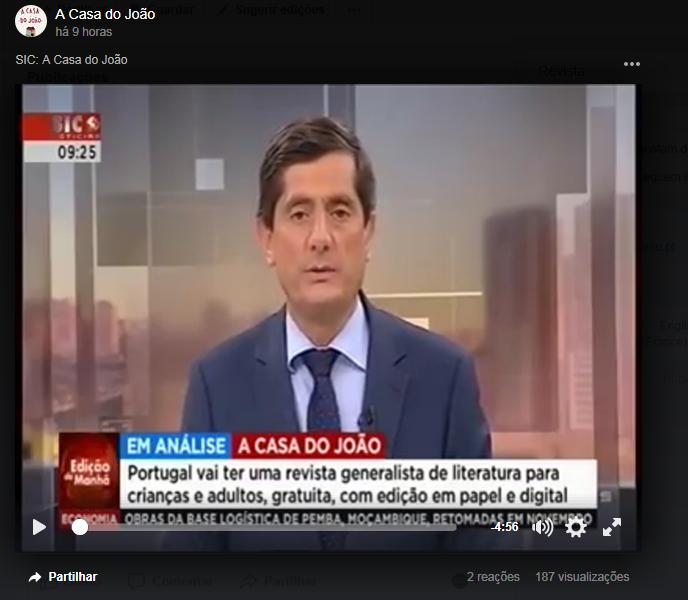 """Sic Noticias: """"A CASA DO JOÃO"""" É NOTÍCIA NA SIC NOTÍCIAS"""